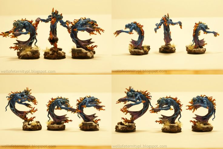 Warhammer Age of Sigmar | Daemons of Chaos | Flamers of Tzeentch by Well of Eternity #warhammer #40k #40000 #wh40k #wh40000 #warhammer40k #gw #gamesworkshop #wellofeternity #miniatures #wargaming #hobby #tabletop