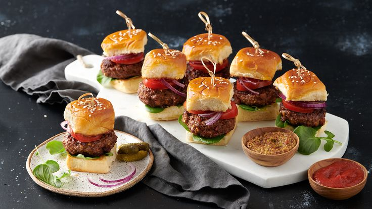 Smokey Cheddar Mini Burgers | Recipe | The Fresh Market - Ingredients and step-by-step recipe for Smokey Cheddar Mini Burgers. Find more gourmet recipes and meal ideas at The Fresh Market today!