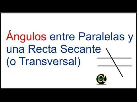 En este video vamos a ver cuáles son los diferentes tipos de ángulos que se forman al cortar dos rectas paralelas con una recta secante: ángulos correspondie...