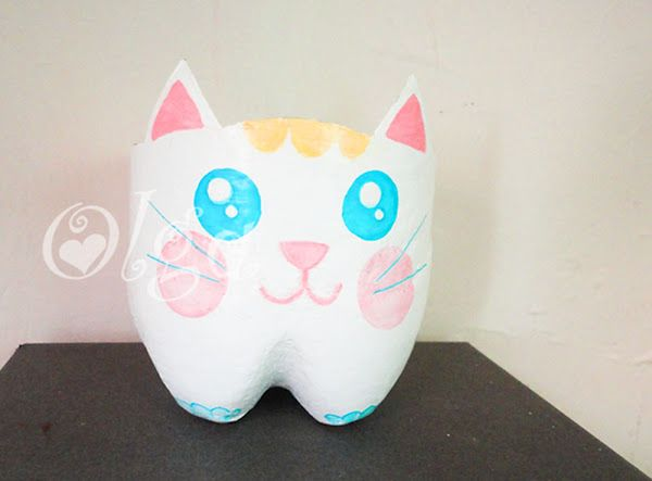 maceta gato - flower cat - pintura pizarra chalk paint