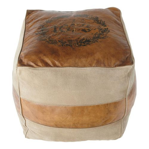 14 best Puff cuero images on Pinterest | Leather, Ottomans and ...
