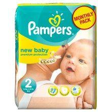 Πάνες Pampers New Baby Monthly Pack No2 3-6kg (240τεμ) +13 πόντους