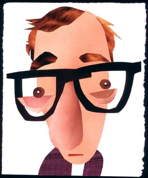 Woody Allen, illustration by Stephen Kroninger