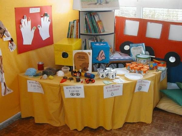 Set up a science table in your classroom use the theme my senses to encourage exploration at - Writing corner ideas ...