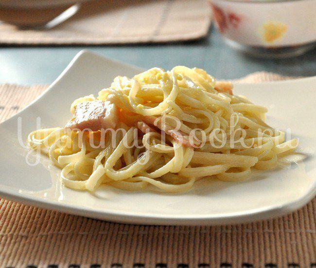 Паста Карбонара с беконом: простой и вкусный пошаговый рецепт с подробным описанием, пошаговыми фотографиями, советами и отзывами о рецепте