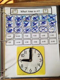 Practice Telling Time daily with this interactive worksheet.  Great for students with autism.