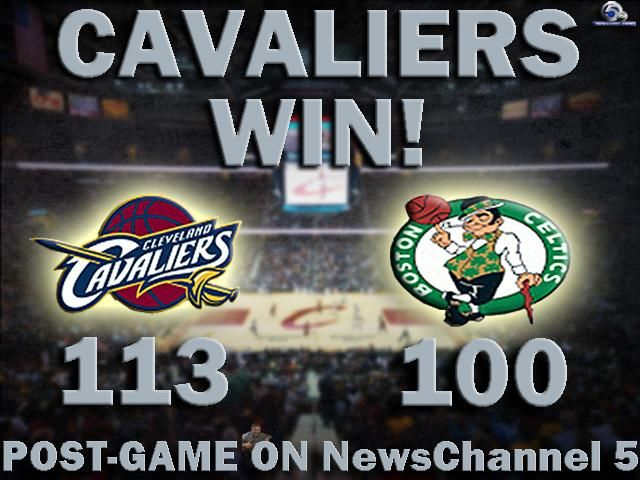 WIN! @cavs defeat @celtics 113-100 to claim Game 1. Watch LIVE postgame show here: http://on.wews.com/1yImZE7 |