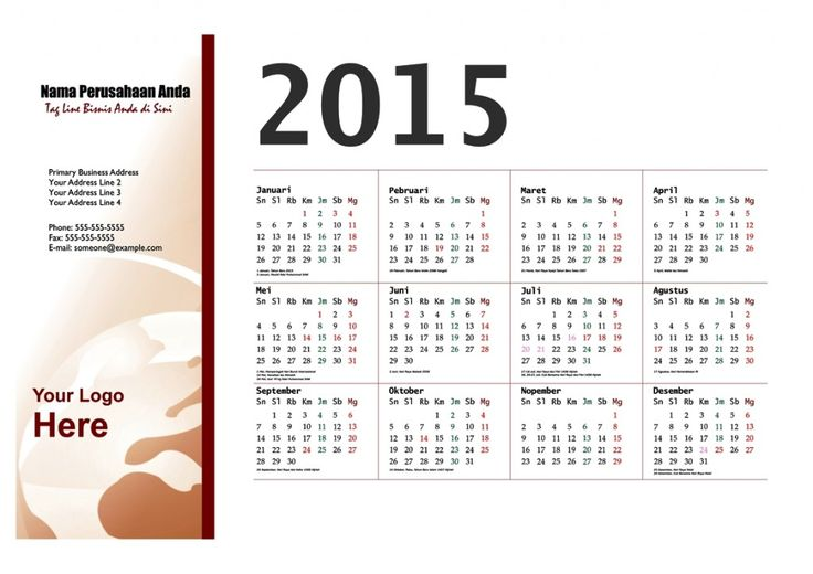 Kalender 2015 Indonesia - Design_21_Floating Oval