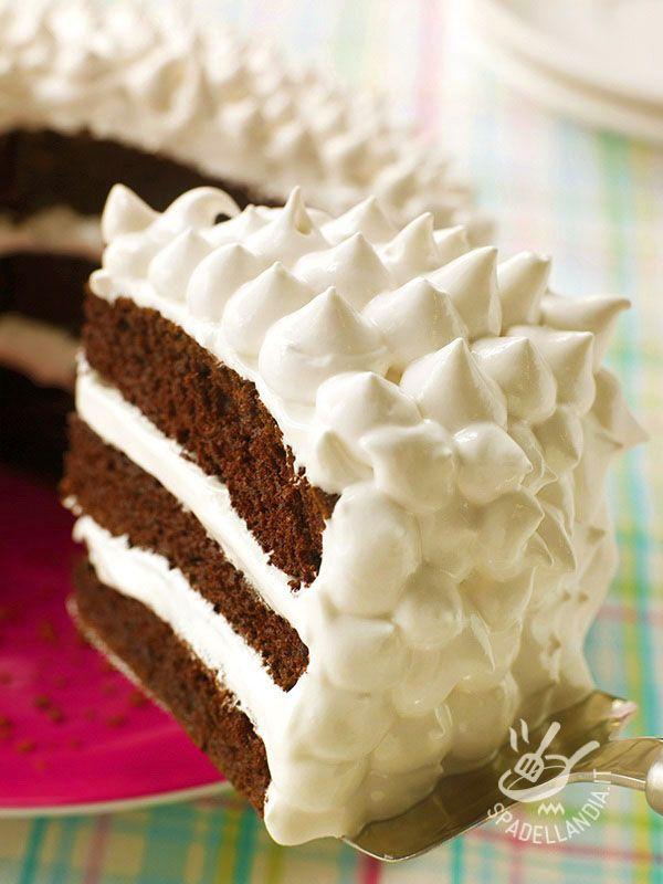 Cream cake and chocolate - Soffice e golosissima, la Torta panna e cioccolato è ottima per la merenda dei bambini che ne vanno ghiotti o per un dopocena all'insegna del buonumore!
