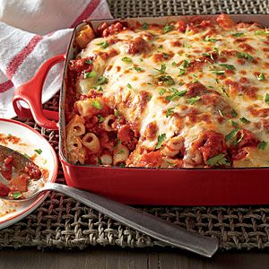 Baked Ziti with Sausage | MyRecipes.com - Made this earlier in the week and it was so good!
