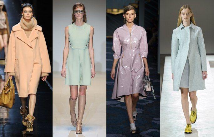 Colori pastello - Le tendenze moda autunno inverno 2014 2015 dalla Milano Fashion Week