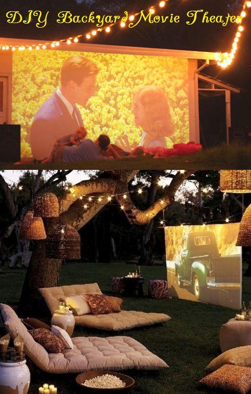 DIY Outdoor Backyard Movie Theater