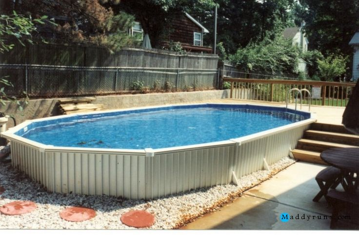 177 best images about swiming pool on pinterest pool ladder pools and above ground pool ladders - Above ground pool steps wood ...