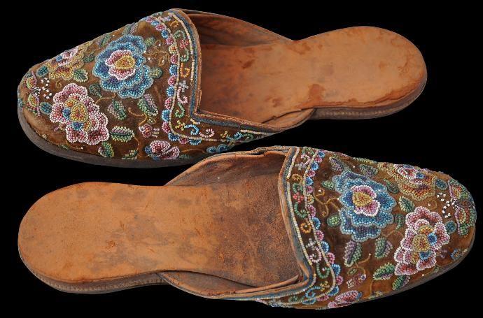 Glass Beaded Groom's Slippers