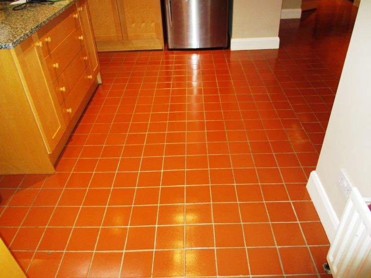 Quarry tile cleaning after quarry tile pinterest for Kitchen quarry tile