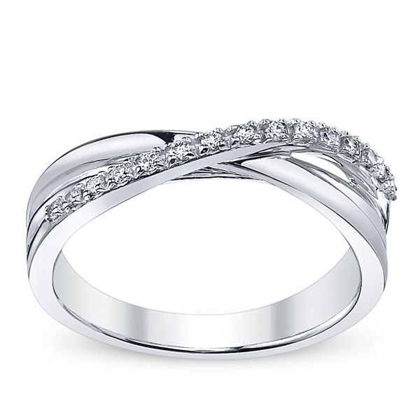 Las White Gold And Diamond Anniversary Band I D Really Like This To Be My Wedding Ring How It Is Pretty Simple But Unique