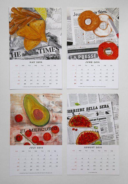 12 Beautiful Food Calendars for 2014