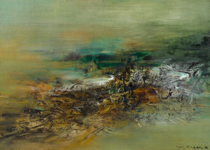 Zao Wou-Ki Oil on canvas. Visit my eBay Shop !... - Abstractions !