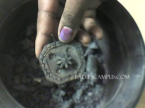 Learn how to make terracotta jewellery pendant making Part 2 (a) -Baking...
