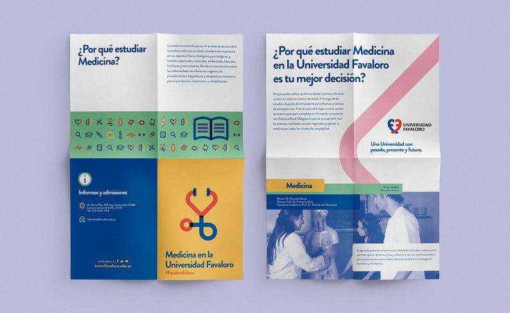 Diseño de imagen para campaña de Universidad Favaloro.Branding design for Favaloro´s University campaign.
