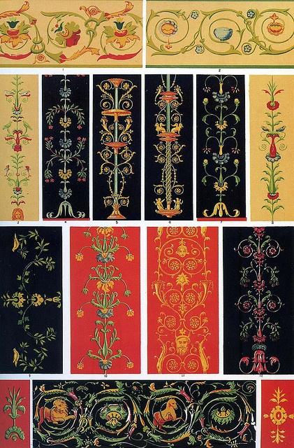 Помпеи. Оуэн Джонс я Помпейские орнамент я 1856  _  Owen Jones I Pompeian ornament I 1856