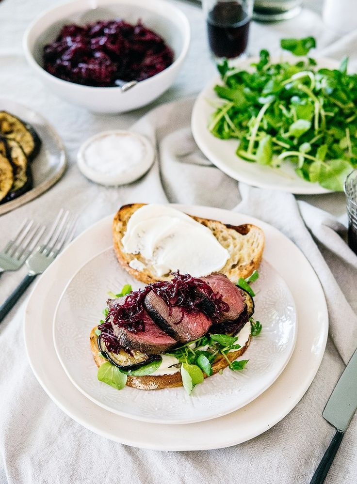 These flavour-packed venison roast sandwiches are perfect for sharing – lay it out and invite guests to help themselves.