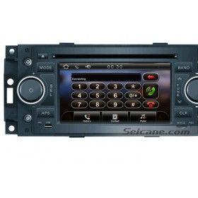 2 Din coche DVD GPS Sat Nav Retrofit para 2002-2007 2008 Chrysler Aspen Concorde Pacifica con AM FM Radio TV Sintonizador Bluetooth IPod Iphone AUX Control del volante USB SD Dual Zone
