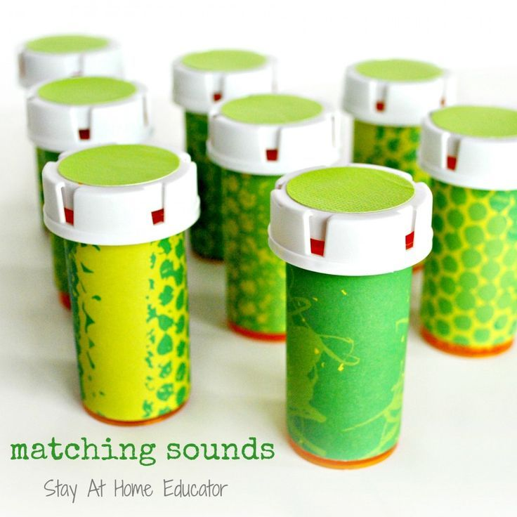 Matching sounds as part of five senses preschool theme - Stay At home Educator