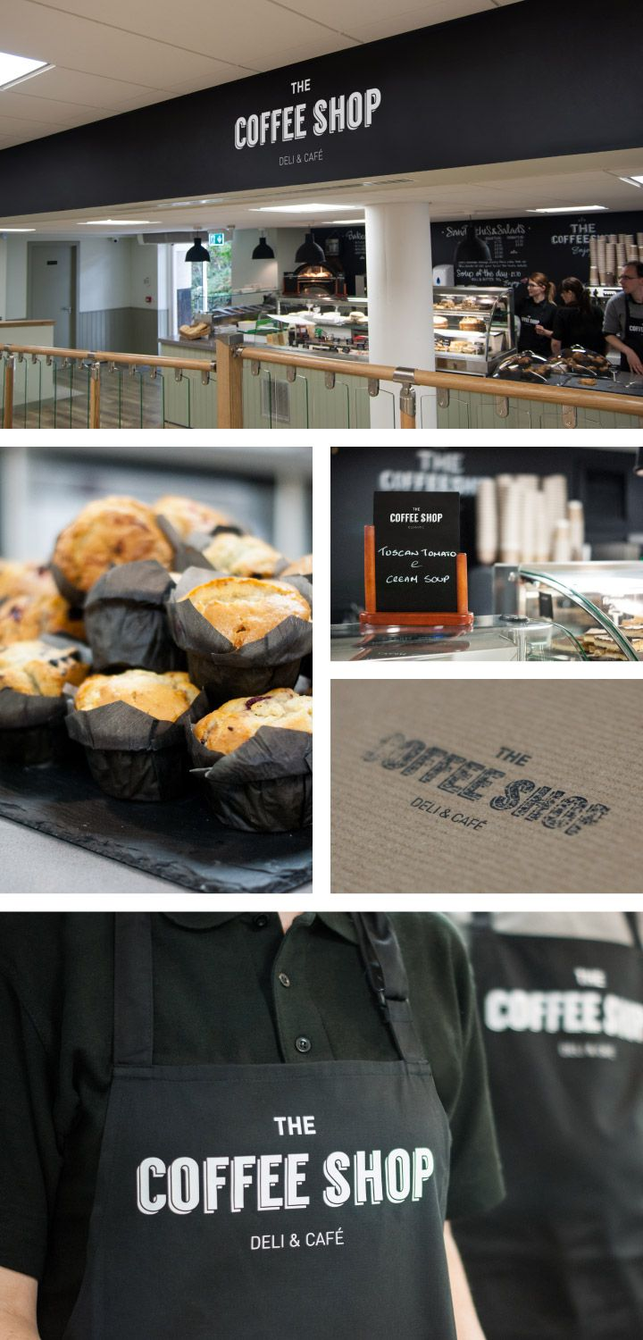 The black and white is very distinctive. What a great design from decoration to the staff uniform! #Coffee #CoffeeShop