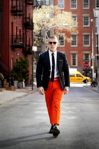 Kravate: Fashion Weeks, Nick Wooster, Orange Pants, Men Style, Men Fashion, Menswear, Nickwoost, Hot Trousers, Men'S Fashion Style