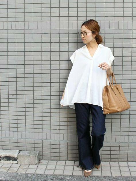 Spick & Span 本社|haruさんのシャツ/ブラウス「≪予約≫C/CUローンブラウス。(FRAMeWORK|フレームワーク)」を使ったコーディネート