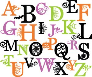 Halloween Monograms Set SVG scrapbook letters spiderweb svg cut file halloween svg cuts free svgs