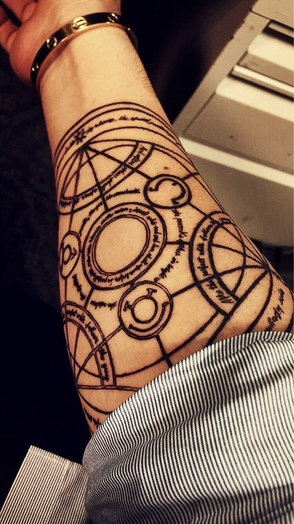 transmutation circle tattoo scar - Google Search