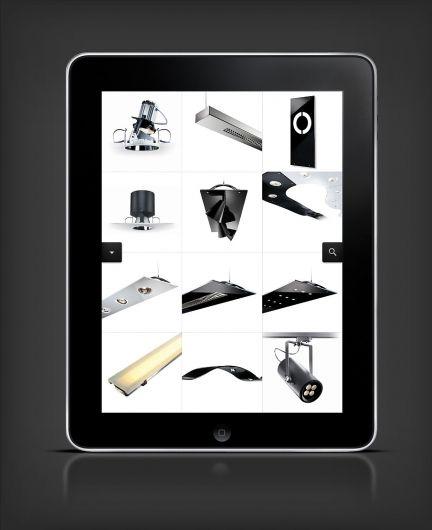 Grid for an iPad lights catalog