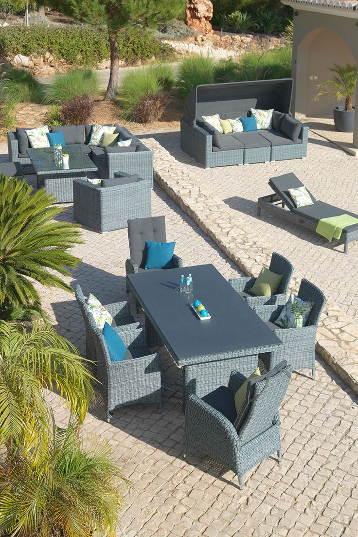 Lounge Set Garten - Manifesto Novara Sessel Sofa Lounge Set 4 Teilig