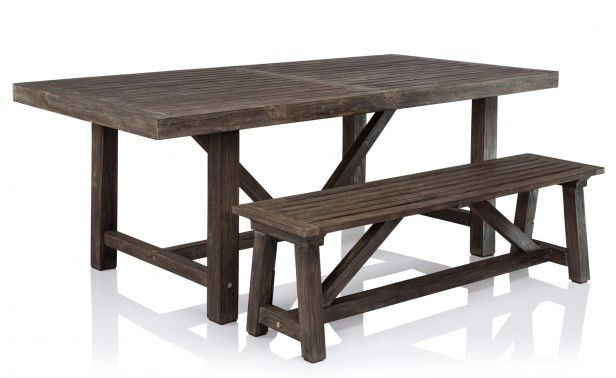 Hamptons Outdoor Dining Table and Bench