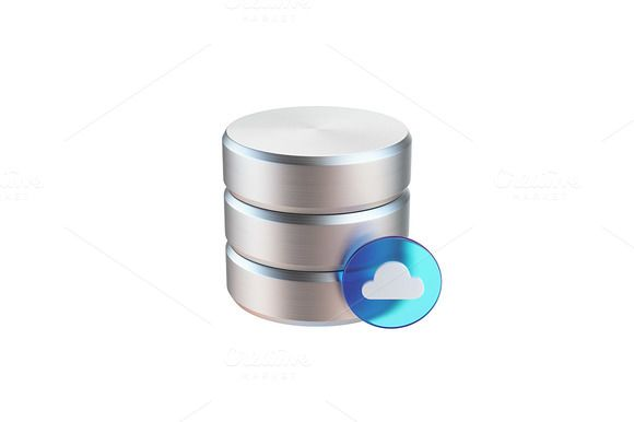 Cloud Data Base Icon by vladut'shop on @creativemarket