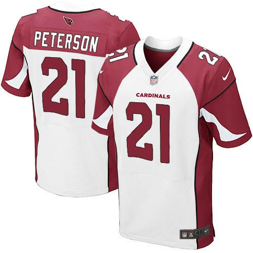 Nike Elite Patrick Peterson White Men's Jersey - Arizona Cardinals #21 NFL Road