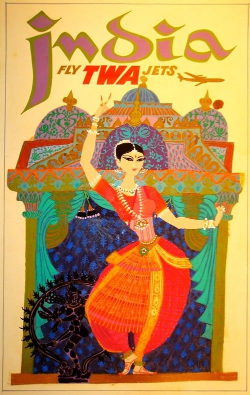 Vintage Travel Poster India, by TWA...repinned by Maurie Daboux ✄❤