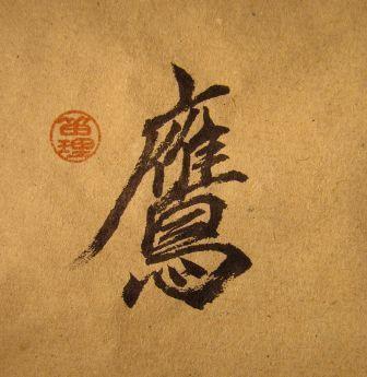 Zopcsák Ferenc Zsolt, kalligráfia, taka, sólyom Japanese Calligraphy