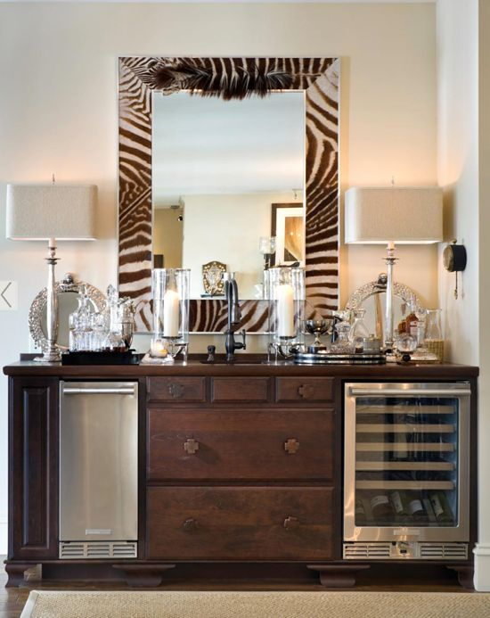old dresser finds new life as mini-bar