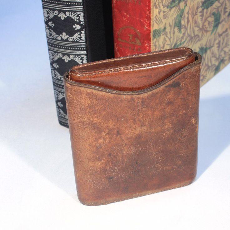 Mens Vintage Leather Cigarette Case