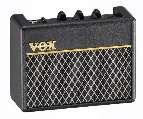 Become a one-man Rhythm Section! The Vox AC1 RhythmVox Miniature Battery Powered Bass Guitar Amp pumps 1 watt of power...
