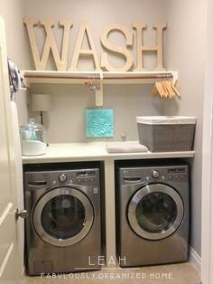 Organised laundry room
