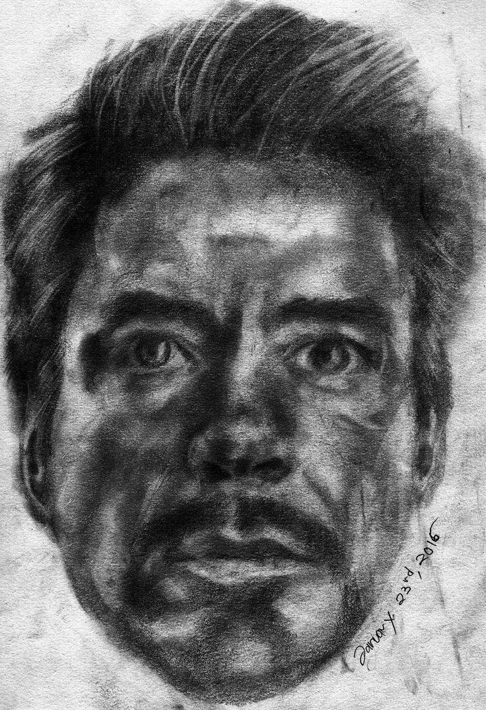 Robert Downey, Jr. Pencil On Paper A3