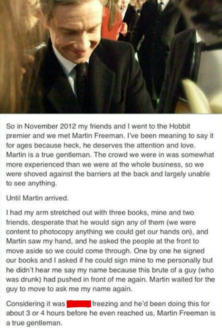 Martin Freeman is a true gentleman