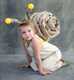 Vestito di Carnevale ecologico: la lumaca