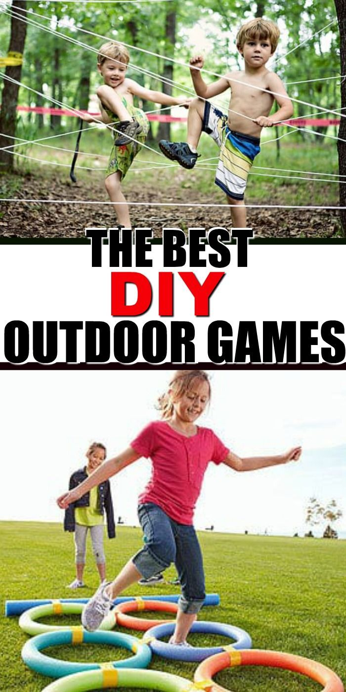 Keep the kids busy outside this summer with these easy to make DIY Outdoor Games… – Anton wird grosser Bruder