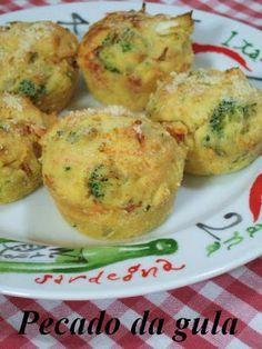 Muffin de fubá e legumes e queijo. Garden Muffin. Mais