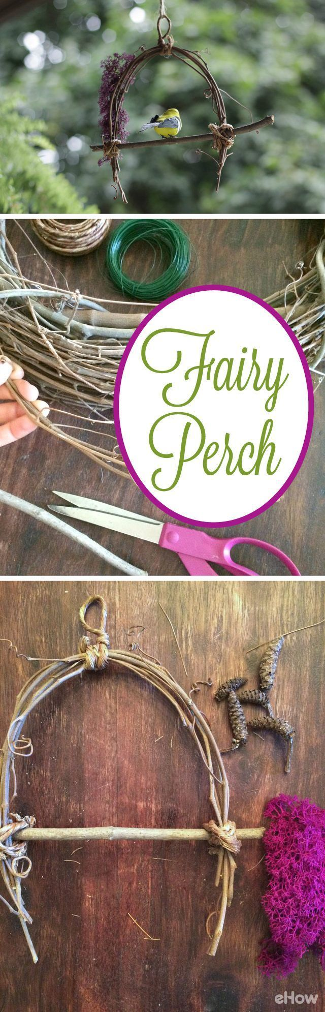 Give the birds a fabulous little perch in your backyard.  Made with all natural items, most of which you can find in your own yard. http://www.ehow.com/how_12342944_make-fairy-bird-perch.html?utm_source=pinterest.com&utm_medium=referral&utm_content=freestyle&utm_campaign=fanpage